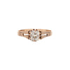Antique Early Victorian 14k Cushion Cut Diamond Ring