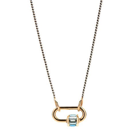 Marla Aaron 14k Yellow Gold Total Baguette Aquamarine Baby Lock