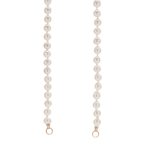 "Marla Aaron Vintage Strand of Baroque Pearls 20"" with 14k Gold Loops"