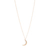 Gillian Conroy 14k YG Diamond Dangly Moon Necklace