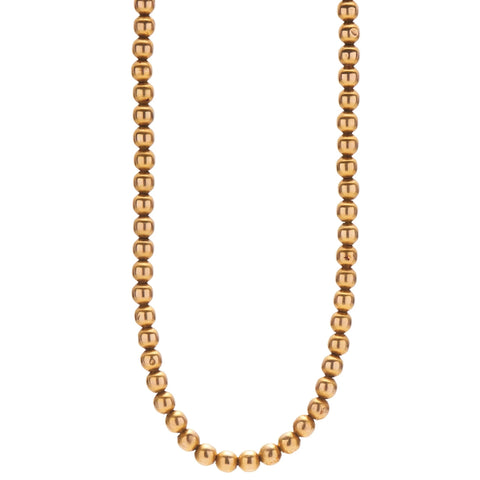 Antique Victorian 14k Gold Bead Necklace -  14.5""