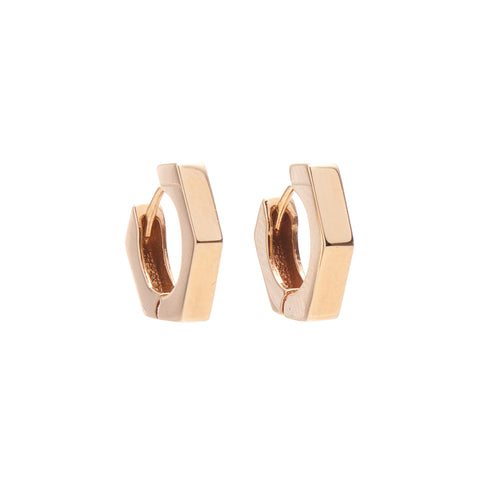 Louison Fine 14k Hexagonal Hoop Earrings