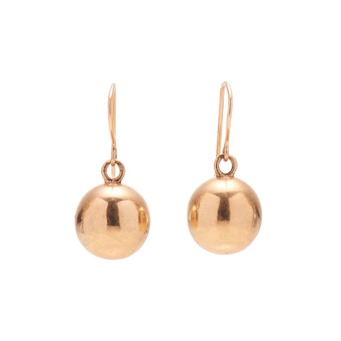 Antique Victorian 14k Sphere Earrings