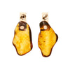 Kathleen Whitaker Amber Nugget with 14k Plane Stud Earrings