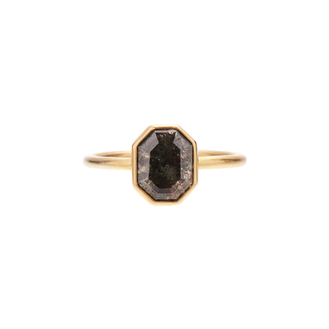 Gabriella Kiss 18k 1.51ct Octagonal Black Lacy Diamond Ring