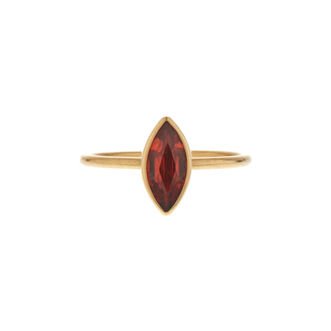 Gabriella Kiss 18k 1.18ct Orange Marquis Sapphire Ring