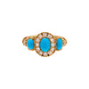 Antique Victorian 18k Turquoise and Diamond Ring