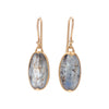 Gabriella Kiss 18k Oval Grey Blue Tourmaline Earrings