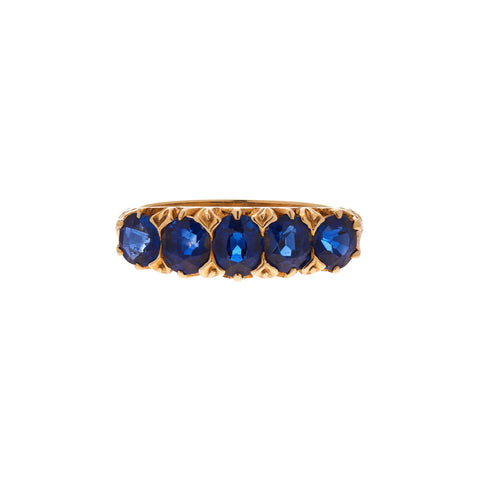 Antique 18k Gold and Sapphire Band Ring