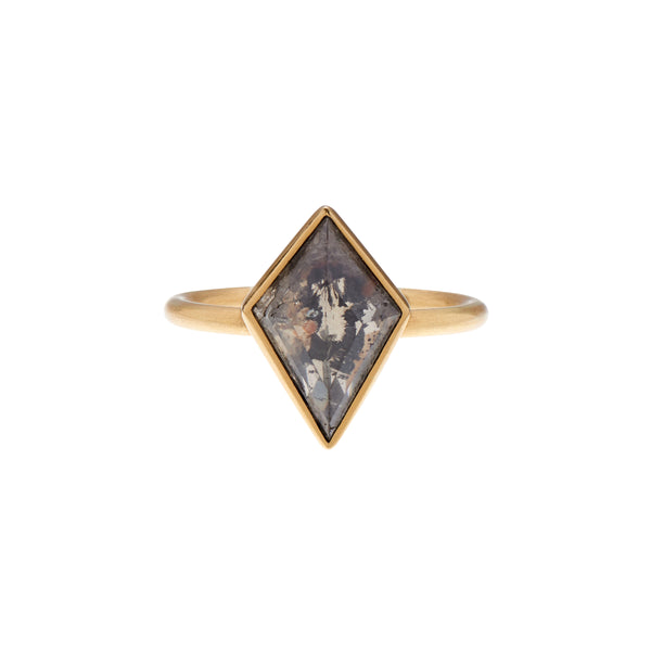 Gabriella Kiss 18k Kite Shaped Lacy Black Diamond Ring - 2.06ct