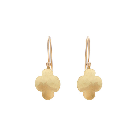 Gabriella Kiss 18k Tiny Scallop Earrings