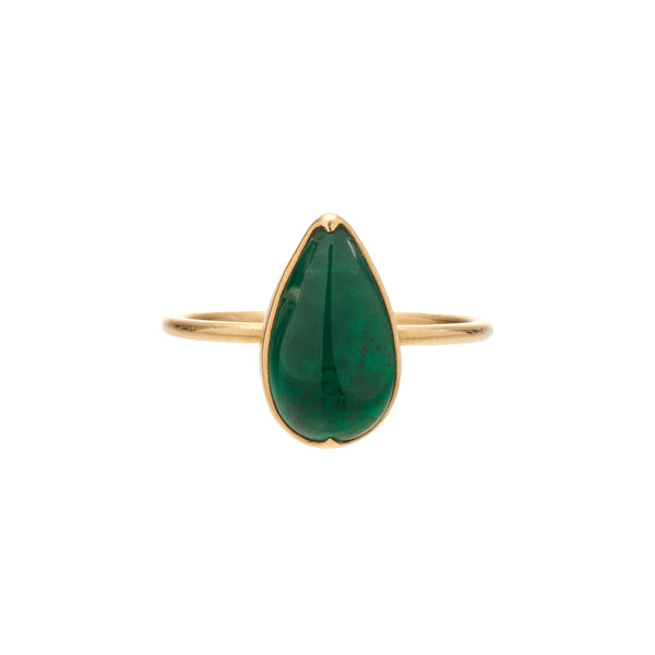 Gabriella Kiss 18k Pear Emerald Ring