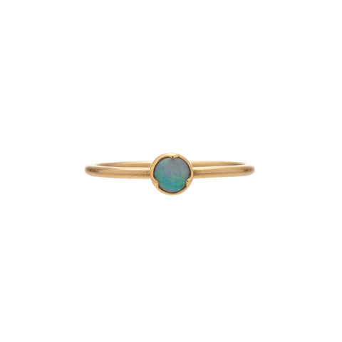 Gabriella Kiss 18k Small Round Opal Ring