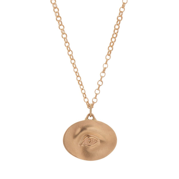 Gabriella Kiss 14k Large Eye Love Token Necklace - 16""