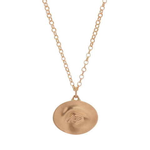 Gabriella Kiss 14k Large Eye Love Token Necklace