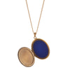 Antique Victorian Blue & Black Enamel and Pearl Locket