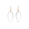 Gillian Conroy 14k Thorn Hooks with Rock Crystal Pear Drop Earrings