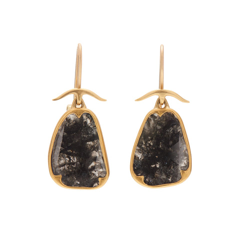 Gabriella Kiss 18k Black Lacy Diamond Earrings - 5.4 tcw