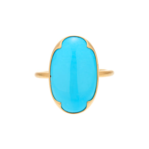 Gabriella Kiss 18k Antique Persian Turquoise Ring