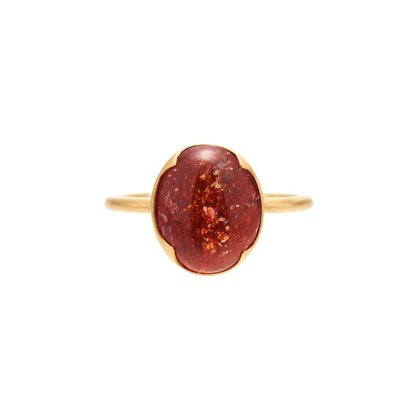 Gabriella Kiss 18k Oval Sunstone Ring