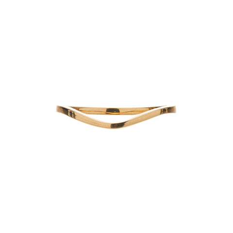 Gillian Conroy 18k Yellow Gold Edie Curved Band Ring