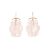 Gabriella Kiss 18/14k Rose Quartz Cloud Earrings