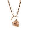 Antique Victorian 14k Chain with 9k Padlock Heart 20""