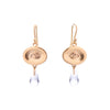 Gabriella Kiss 10k Small Eye & Crystal Drop Earrings