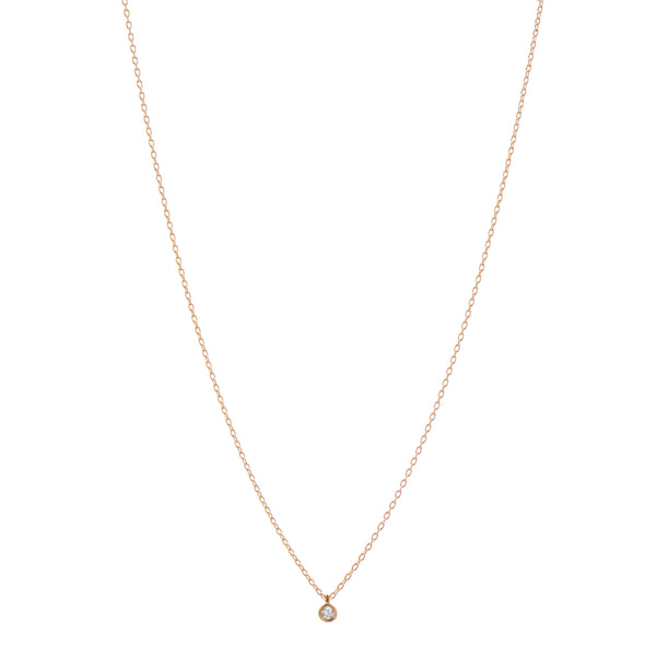 Marian Maurer 18k Single 3pt Diamond Necklace 16""