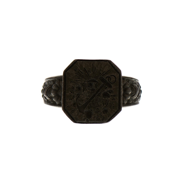 Antique Victorian Berlin Iron Anchor Ring