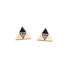 Harwell Godfrey 18k Black Enamel Diamond Triangle Stud Earrings