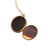 Antique Bohemian Garnet and Agate Marquetry Double Sided Locket