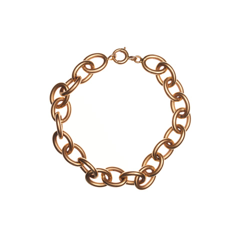 Antique 18k French Oval Link Bracelet