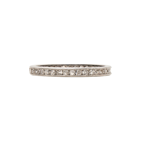 Antique 1920's Platinum Diamond Eternity Band