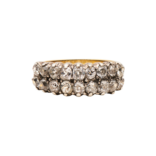 Antique Victorian Double Row Diamond Band Ring