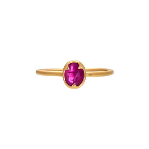 Gabriella Kiss 18k Oval Faceted Ruby Ring