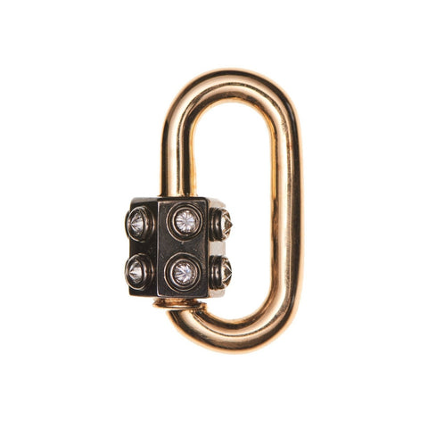 Marla Aaron 14k Yellow Gold & Diamond Consuelo Lock