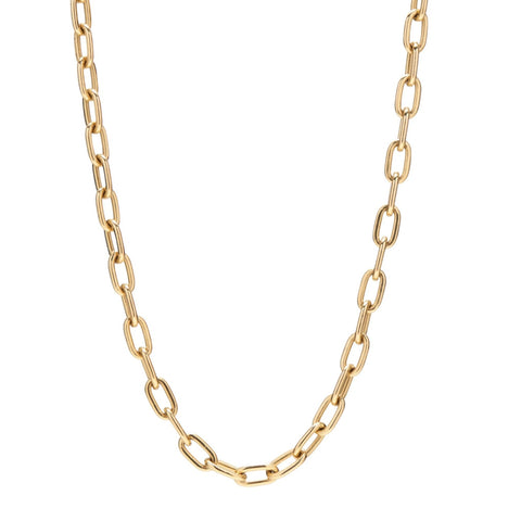 Stephanie Windsor 14k Solid Oval Link Chain Necklace