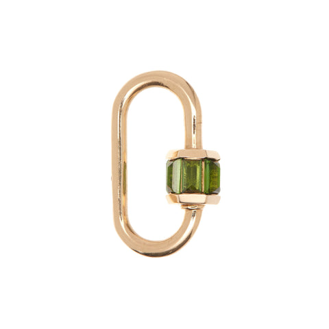 Marla Aaron 14k Yellow Gold Total Baguette Green Tourmaline Medium Lock