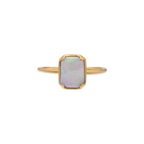 Gabriella Kiss 18k Cushion Cut Australian Opal Ring