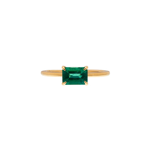 Gillian Conroy 18k Gold  Columbian Emerald Ring 1.1 ct