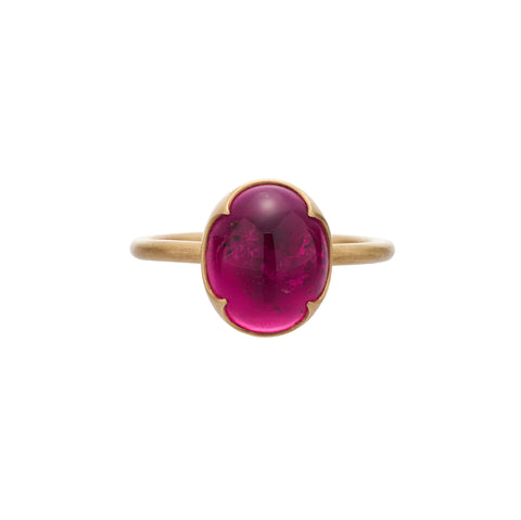 Gabriella Kiss 18k Oval Rubelite Tourmaline Ring