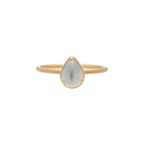 Gabriella Kiss 18k Pear Shaped Rainbow Moonstone Ring