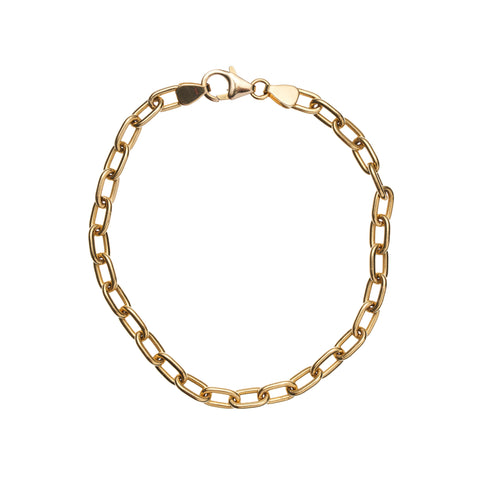 Stephanie Windsor 14kt Solid Oval Link Bracelet