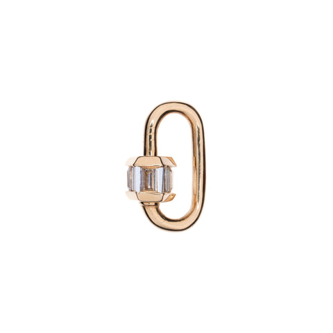 Marla Aaron 14k Yellow Gold Total Baguette Diamond Baby Lock