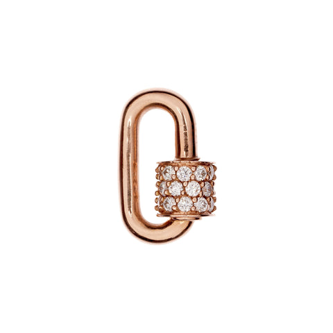 Marla Aaron 14k Rose Gold Stoned Diamond Chubby Baby Lock
