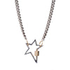 Marla Aaron 14k White Gold Star w/ Yellow Gold Closure Lock