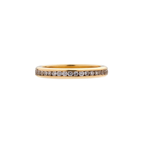 Tura Sugden 18k Gold White Diamond Eternity Band