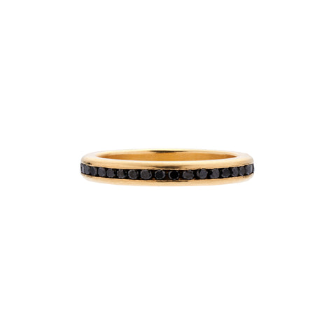 Tura Sugden 18k Gold Black Diamond Eternity Band