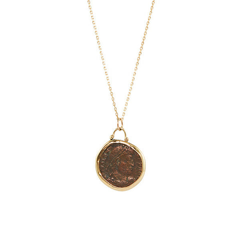 B.C.E. Jewelry 14k Ancient Coin Necklace